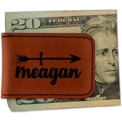 Tribal Arrows Leatherette Magnetic Money Clip (Personalized)