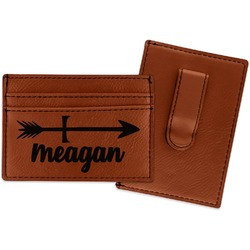 Tribal Arrows Leatherette Wallet with Money Clip (Personalized)