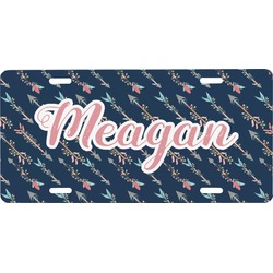 Tribal Arrows Front License Plate (Personalized)