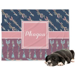 Tribal Arrows Minky Dog Blanket (Personalized)