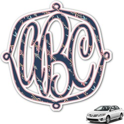 Tribal Arrows Monogram Car Decal (Personalized)