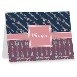 Tribal Arrows Notecards (Personalized)
