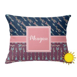Tribal Arrows Outdoor Throw Pillow (Rectangular) (Personalized)