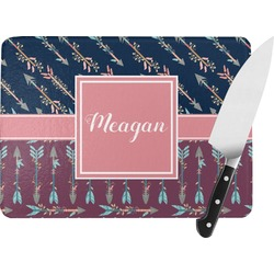 Tribal Arrows Rectangular Glass Cutting Board (Personalized)