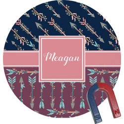 Tribal Arrows Round Magnet (Personalized)