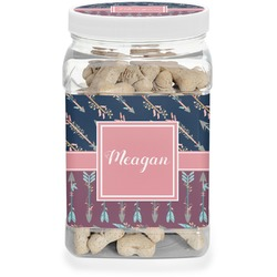 Tribal Arrows Pet Treat Jar (Personalized)