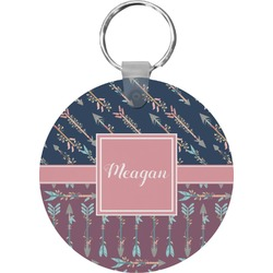 Tribal Arrows Round Keychain (Personalized)