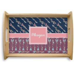 Tribal Arrows Natural Wooden Tray (Personalized)