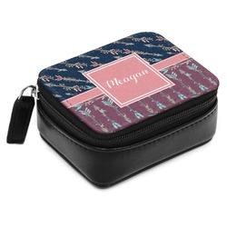 Tribal Arrows Small Leatherette Travel Pill Case (Personalized)
