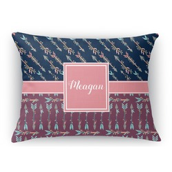 Tribal Arrows Rectangular Throw Pillow Case (Personalized)