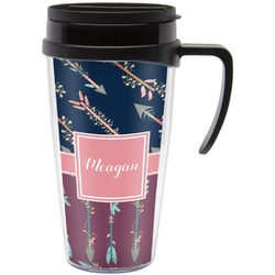 Tribal Arrows Travel Mug with Handle (Personalized)