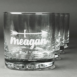 Tribal Arrows Whiskey Glasses (Set of 4) (Personalized)
