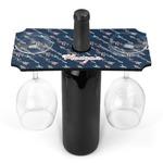 Tribal Arrows Wine Bottle & Glass Holder (Personalized)