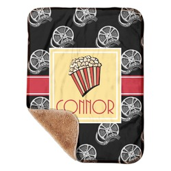 "Movie Theater Sherpa Baby Blanket 30"" x 40"" (Personalized)"