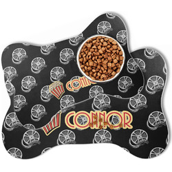 Movie Theater Bone Shaped Dog Food Mat (Personalized)