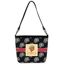 Movie Theater Bucket Bag w/ Genuine Leather Trim (Personalized)