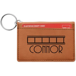 Movie Theater Leatherette Keychain ID Holder (Personalized)