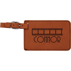 Movie Theater Leatherette Luggage Tag (Personalized)