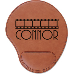 Movie Theater Leatherette Mouse Pad with Wrist Support (Personalized)