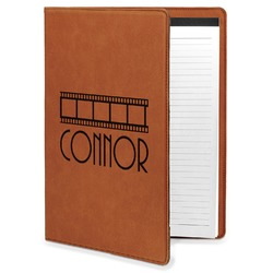 Movie Theater Leatherette Portfolio with Notepad (Personalized)