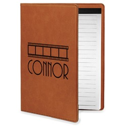 Movie Theater Leatherette Portfolio with Notepad - Small - Single Sided (Personalized)