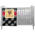 Movie Theater Crib Comforter / Quilt w/ Name or Text