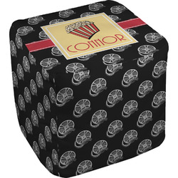 Movie Theater Cube Pouf Ottoman (Personalized)