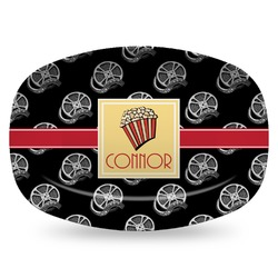 Movie Theater Plastic Platter - Microwave & Oven Safe Composite Polymer (Personalized)