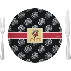 "Movie Theater Glass Lunch / Dinner Plates 10"" - Single or Set (Personalized)"