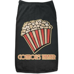 Movie Theater Black Pet Shirt (Personalized)