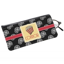 Movie Theater Genuine Leather Eyeglass Case (Personalized)