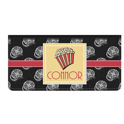 Movie Theater Genuine Leather Checkbook Cover (Personalized)