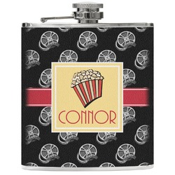 Movie Theater Genuine Leather Flask (Personalized)