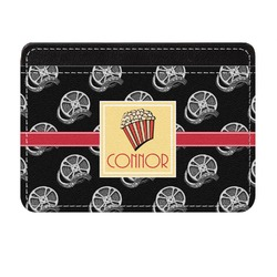 Movie Theater Genuine Leather Front Pocket Wallet (Personalized)