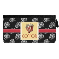 Movie Theater Genuine Leather Ladies Zippered Wallet (Personalized)