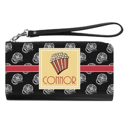 Movie Theater Genuine Leather Smartphone Wrist Wallet (Personalized)