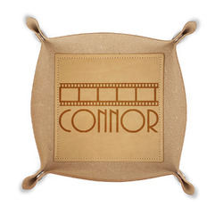 Movie Theater Genuine Leather Valet Tray (Personalized)