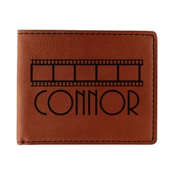 Movie Theater Leatherette Bifold Wallet (Personalized)