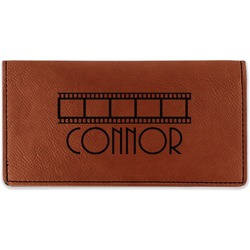 Movie Theater Leatherette Checkbook Holder (Personalized)