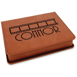 Movie Theater Leatherette 4-Piece Wine Tool Set (Personalized)