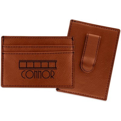 Movie Theater Leatherette Wallet with Money Clip (Personalized)