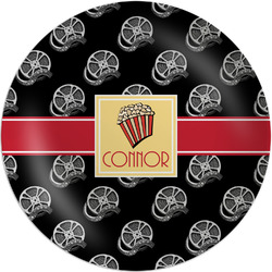 "Movie Theater Melamine Plate - 10"" (Personalized)"