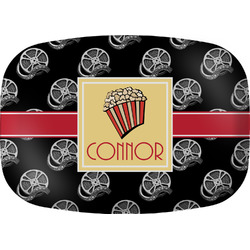 Movie Theater Melamine Platter w/ Name or Text