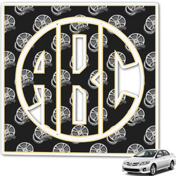 Movie Theater Monogram Car Decal (Personalized)
