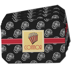 Movie Theater Dining Table Mat - Octagon w/ Name or Text
