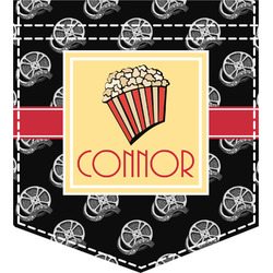 Movie Theater Iron On Faux Pocket (Personalized)