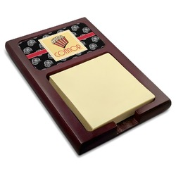 Movie Theater Red Mahogany Sticky Note Holder (Personalized)