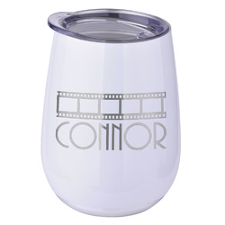 Movie Theater Stemless Wine Tumbler - 5 Color Choices - Stainless Steel  (Personalized)