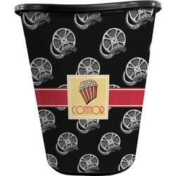 Movie Theater Waste Basket - Double Sided (Black) (Personalized)