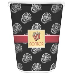 Movie Theater Waste Basket - Double Sided (White) (Personalized)